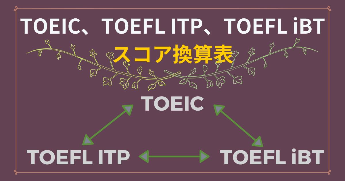 TOEICとTOEFLの換算表