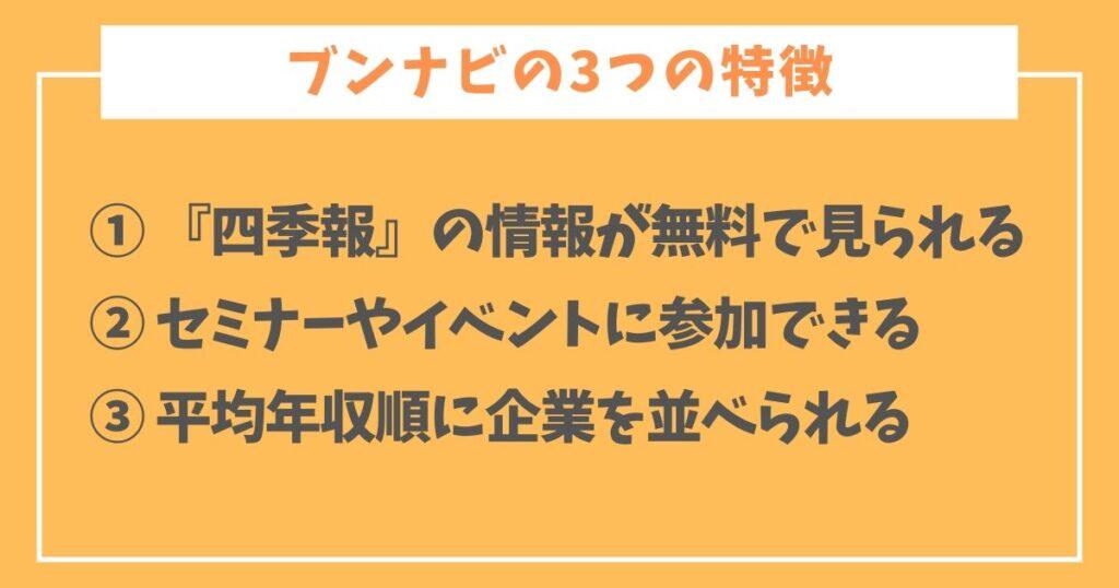 ブンナビの特徴や評判-5-3つの特徴