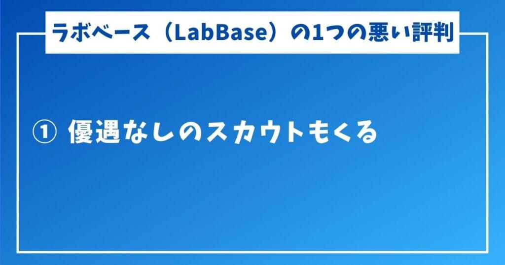 ラボベース(LabBase)でスカウトはくる?評判も-4-1つの悪い評判